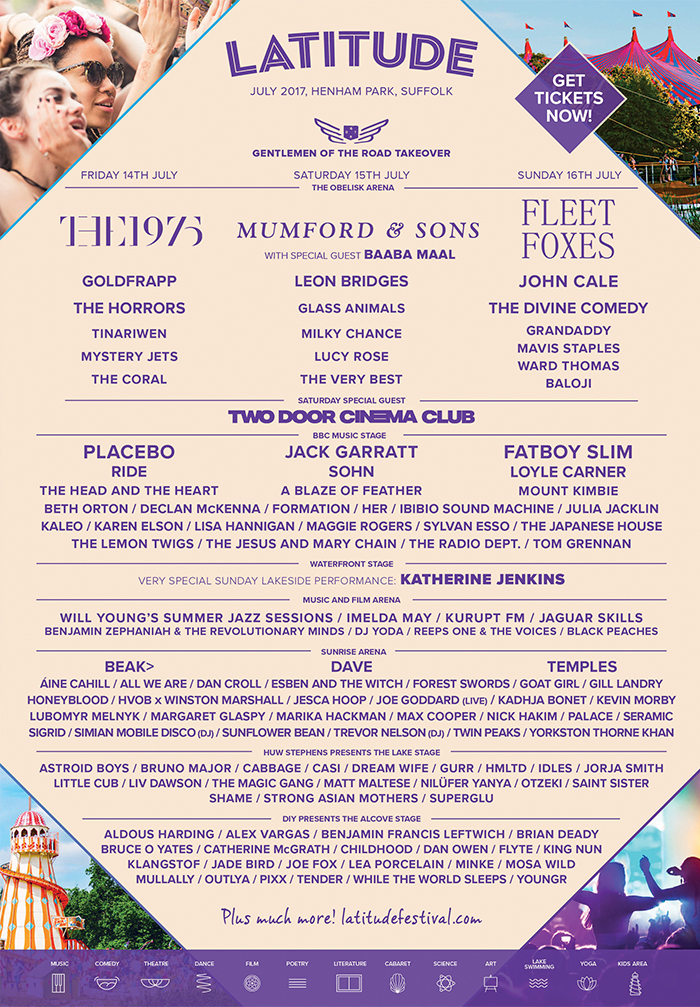 Latitude Festival 2017 - Latitude Festival 2017 - New Line up