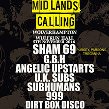 Midlands Calling - All Day Punkfest With Sham 69