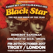 Black Star (Yasiin Bey & Talib Kweli) Support: Homeboy Sandman + Children Of Zeus LONDON - Tickets